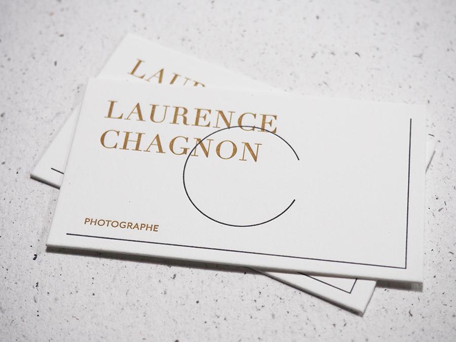 Identit Cartes De Visite Impression La Letterpress Pour Laurence Chagnon Photographe